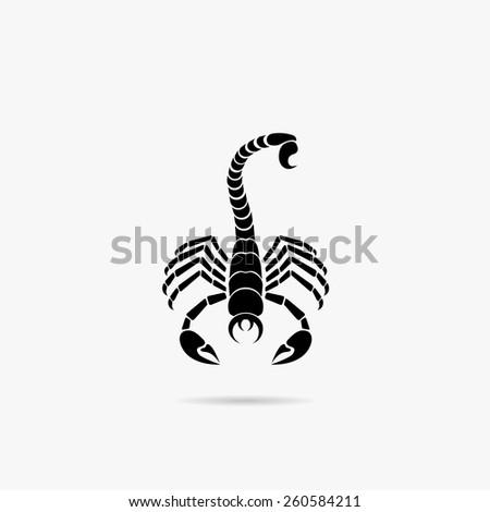 Simple icon scorpion. - stock vector