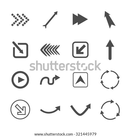 Simple Icon set related to Interface Arrows. icons set. Vector Illustration eps10  - stock vector