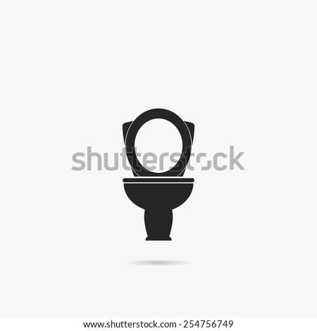Simple icon toilet. - stock vector