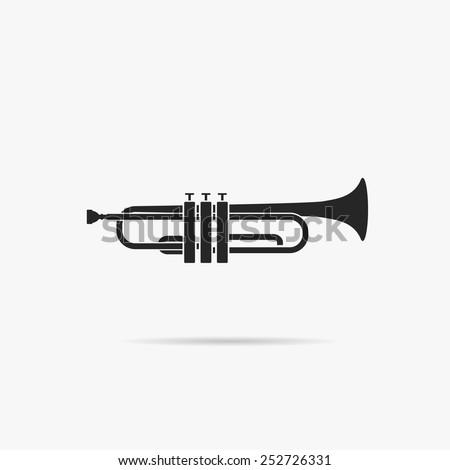 Simple icon Trumpet. - stock vector