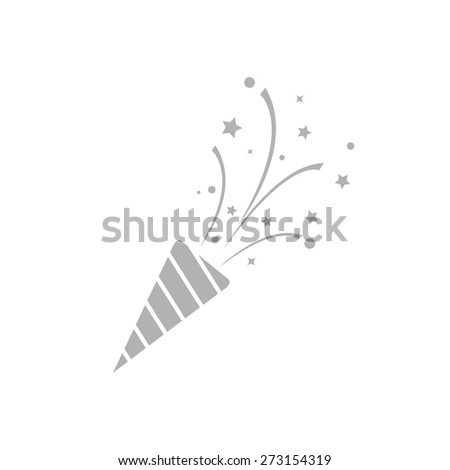 Simple icons Christmas crackers. - stock vector