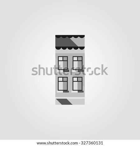 Simple icons: House  - stock vector