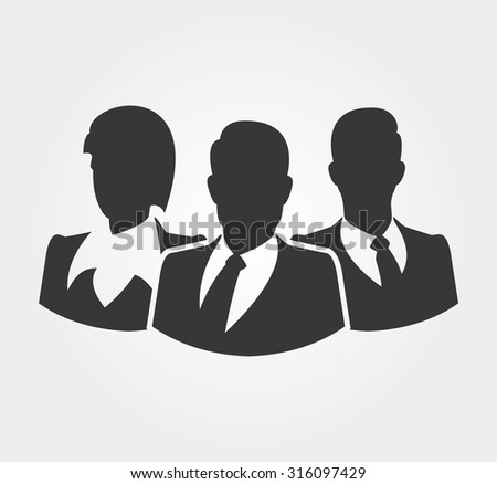 Simple icons: Silhouettes of business people