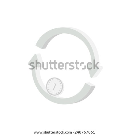 Simple image exchange. - stock vector