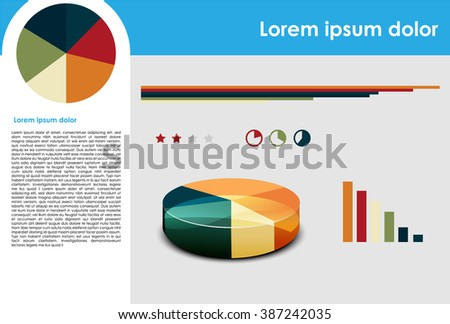 Simple infographic - stock vector