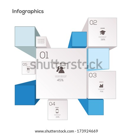 Simple Infographics Elements. Vector Illustration