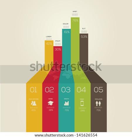 Simple Infographics Retro Style Vector Stock Vector 141626554 ...