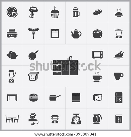 Simple Kitchen Icons Set. Universal Kitchen Icon To Use For Web And Mobile  UI, Part 81
