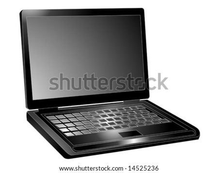 Simple laptop made in vector format
