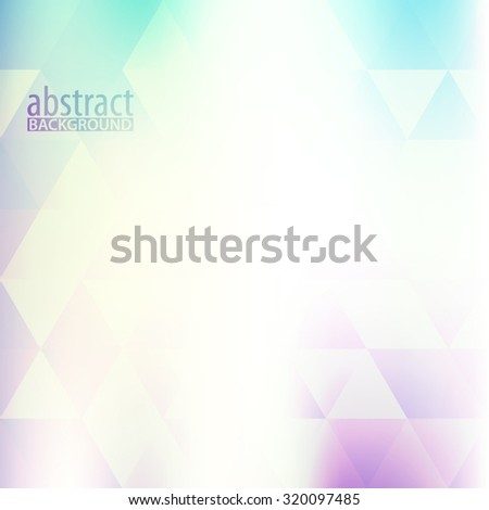 Simple light hipster background with transparent triangles. Vector graphic pattern - stock vector