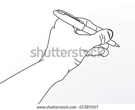 Match Lines on Drawings Simple Line Drawing of Hand