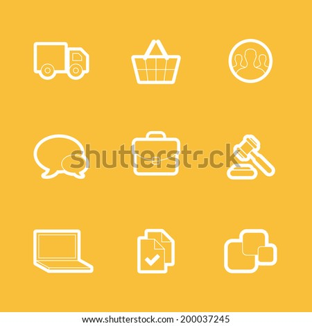 Simple line shopping icons for web and mobile