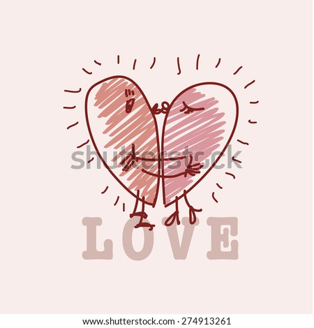 simple love card concept. vector illustration