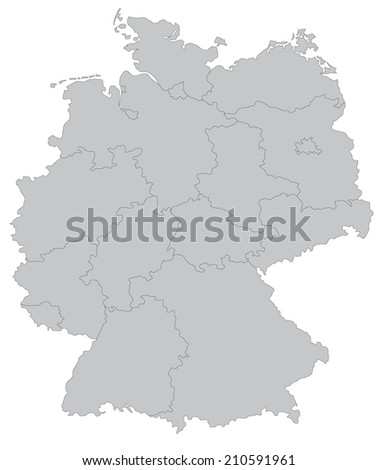 Germany Map Stock Images RoyaltyFree Images Vectors Shutterstock - Germany map simple