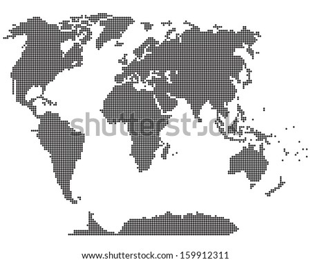 Simple map of the world. Abstract vector illustration. - stock vector