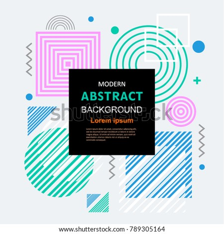 Simple Modern Abstract Geometric Pattern Design Stock Vector ...