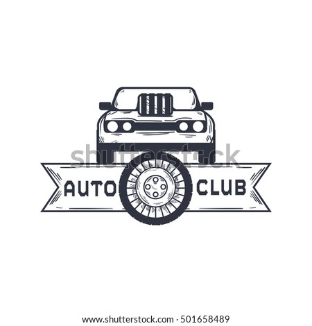 Simple modern Automotive logo, Auto logo