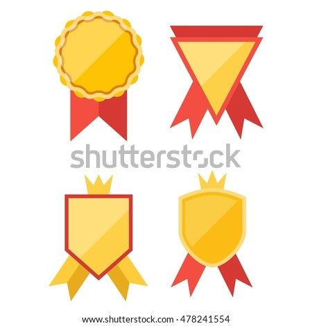 simple modern award badge design template stock vector 478241554