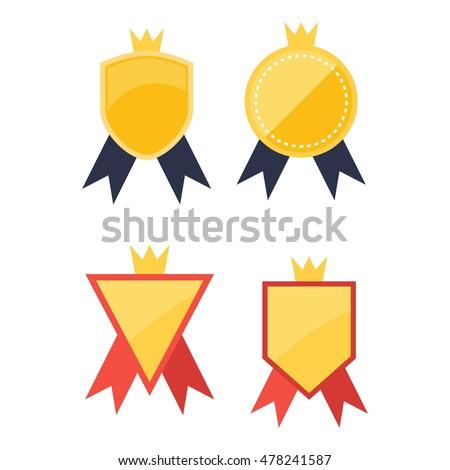 simple modern award badge design template stock vector 478241587