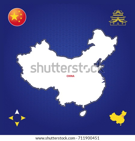 Simple outline map china stock vector 711900451 shutterstock simple outline map of china gumiabroncs Choice Image