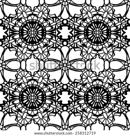 Simple pattern lace. Vector illustration - stock vector