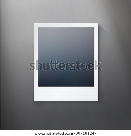 Simple Photo Frame Mock Up for Your Media Content - stock vector