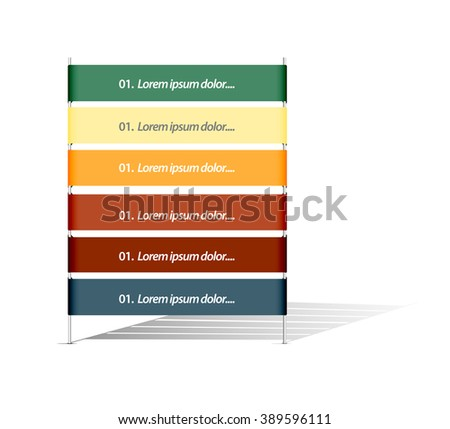 Simple presentation banners - stock vector