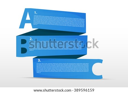 Simple presentation infographic with letters - stock vector