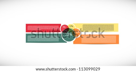 Simple presentation with four text box - stock vector
