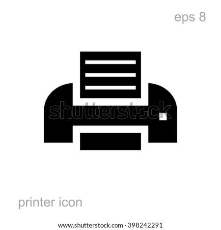 Simple printer icon. Printer vector icon isolated. Laser or inkjet printer icon. Printer icon  for web. Printer icon for advertising, layout design. Printer icon black. Printer icon flat. Printer eps8 - stock vector
