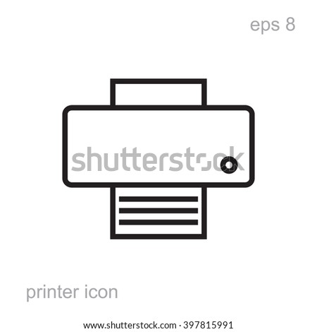 Simple printer vector icon isolated. Laser or inkjet printer icon for web, printer icon for advertising, printer icon layout, printer icon design, printer icon web, printer icon black, printer simple - stock vector