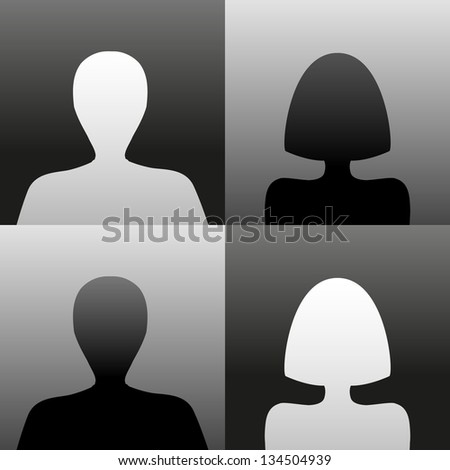 Simple profile images - stock vector