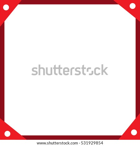 Simple Red Frame Red Decoration Stock Vector (2018) 531929854 ...