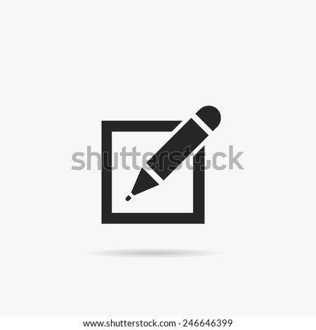 Simple registration icon. - stock vector