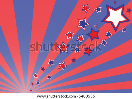 Simple retro funky rays background (illustration, vector)