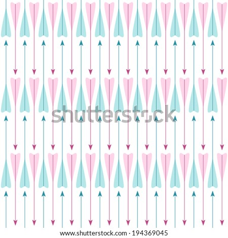 Simple retro pattern with arrows - stock vector