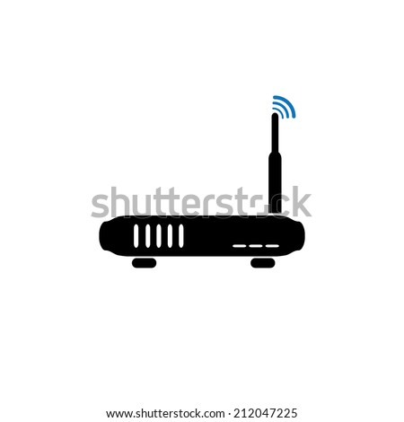 Simple Router Icon - stock vector