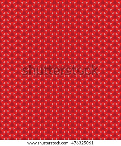 Simple seamless abstract pattern geometrical figure inscribed hexagram..