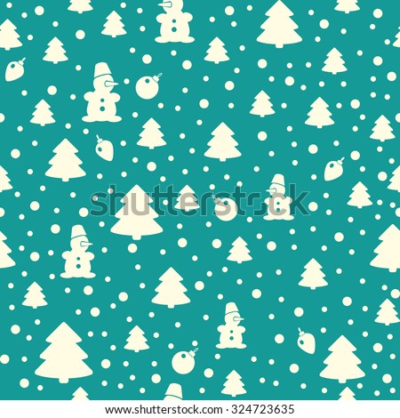 simple seamless Christmas pattern - stock vector