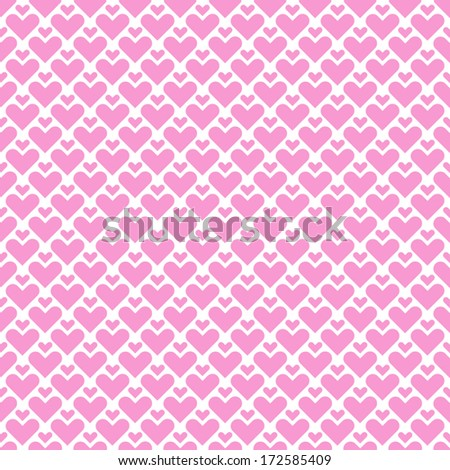 Simple seamless geometric pattern with hearts. - stock vector