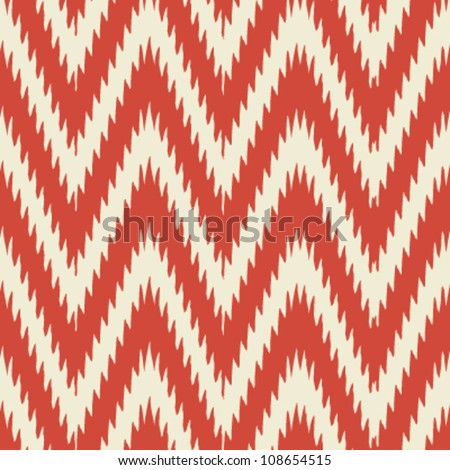 Simple seamless modern chevron zig zag pattern background - stock vector