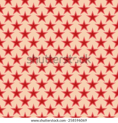 Simple seamless pattern in retro colors, stars