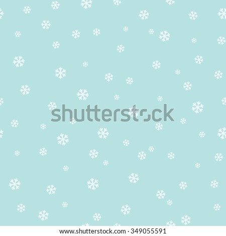 Simple seamless pattern with snowflakes. Vector - stock vector