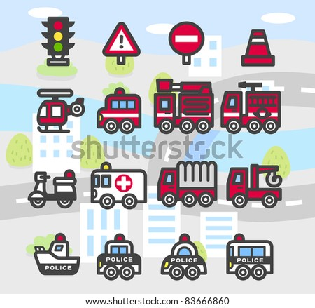 Simple series | Car,Emergency services,vehicles,transportation ,traffic Icon set