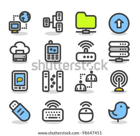 Simple Series | Internet,business,cloud computing icon set - stock vector