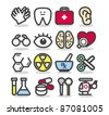 Simple series | Medical ,Emergency ,health care  icons set - stock vector