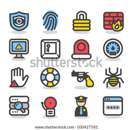 Simple Series | Security , network , internet icon set