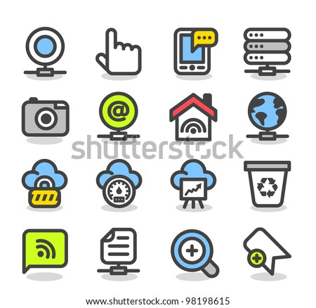Simple series | Web,Internet, Business icons Set