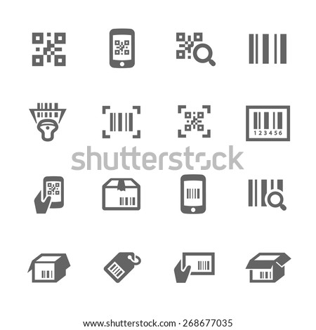 Simple Set of Check code Related Vector Icons for Your Design. - stock vector