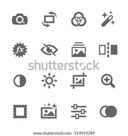 Simple Set of Image Editing Related Vector Icons for Your Design - stock vector